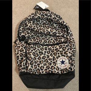 NWT Converse Go Backpack cheetah print